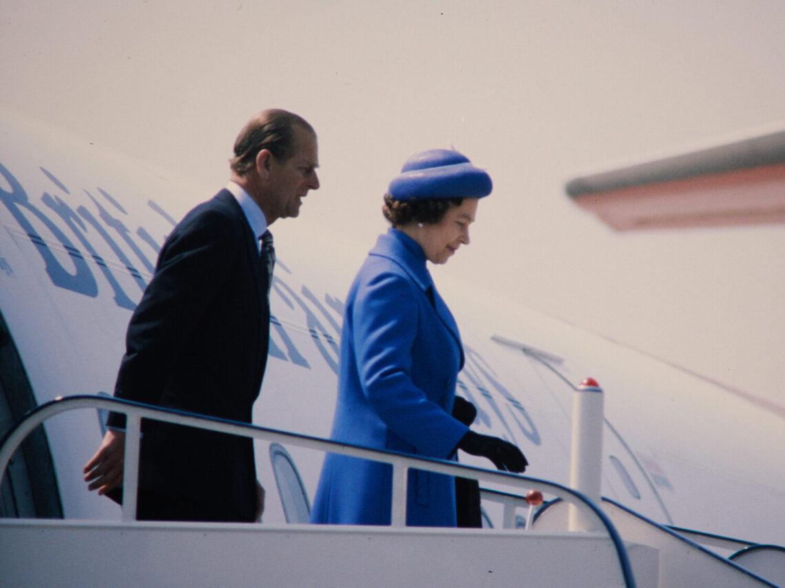 Ankunft der Royals am Flughafen Zürich-Kloten am 29. April 1980. (Quelle: Schweizerisches Nationalmuseum / ASL)